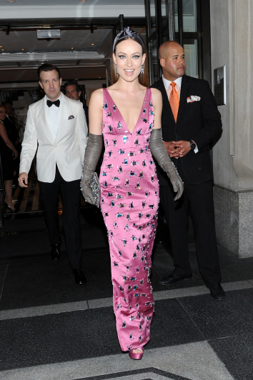 departs The Mark Hotel for the Met Gala at the Metropolitan Museum of Art on May 4, 2015 in New York City.