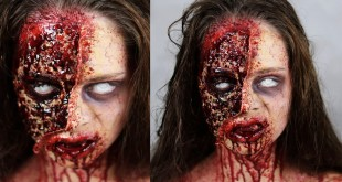 THE WALKING DEAD ZOMBIE - Halloween SFX Makeup Tutorial