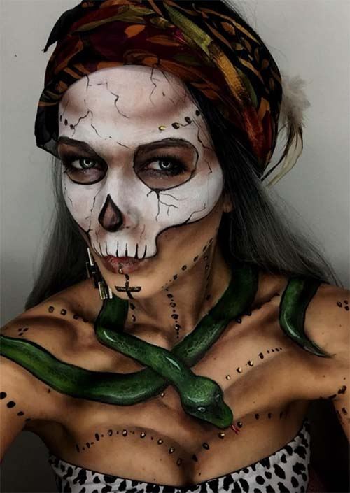 Bayou Witch Makeup for Halloween