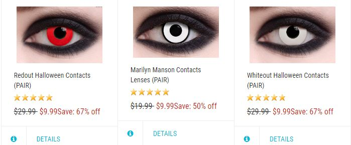 where to buy halloween contacts under $10