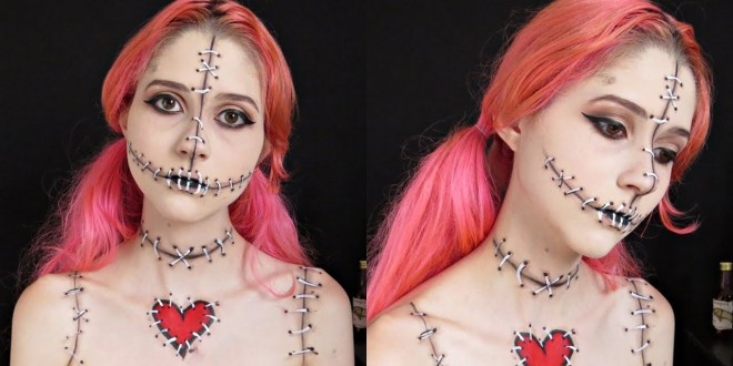 SCARY VOODOO DOLL MAKEUP-2