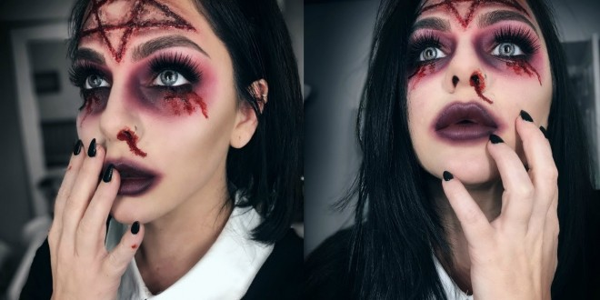 SCARY WITCH HALLOWEEN MAKEUP IDEA