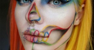 Rainbow Skeleton Makeup